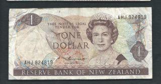 Zealand 1985 - 89 1 Dollar P 169b Circulated photo