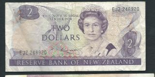 Zealand 1985 - 89 2 Dollars P 170b Circulated photo