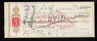 1937 The Provincial Bank Of Canada - St.  Hyacinthe,  Quebec - C/w Revenue Stamp photo