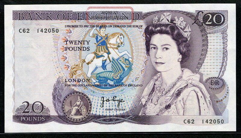 Great Britain 1970 - 1980,  20 Pounds,  C62 - 142050,  P380b,  Unc, Europe photo