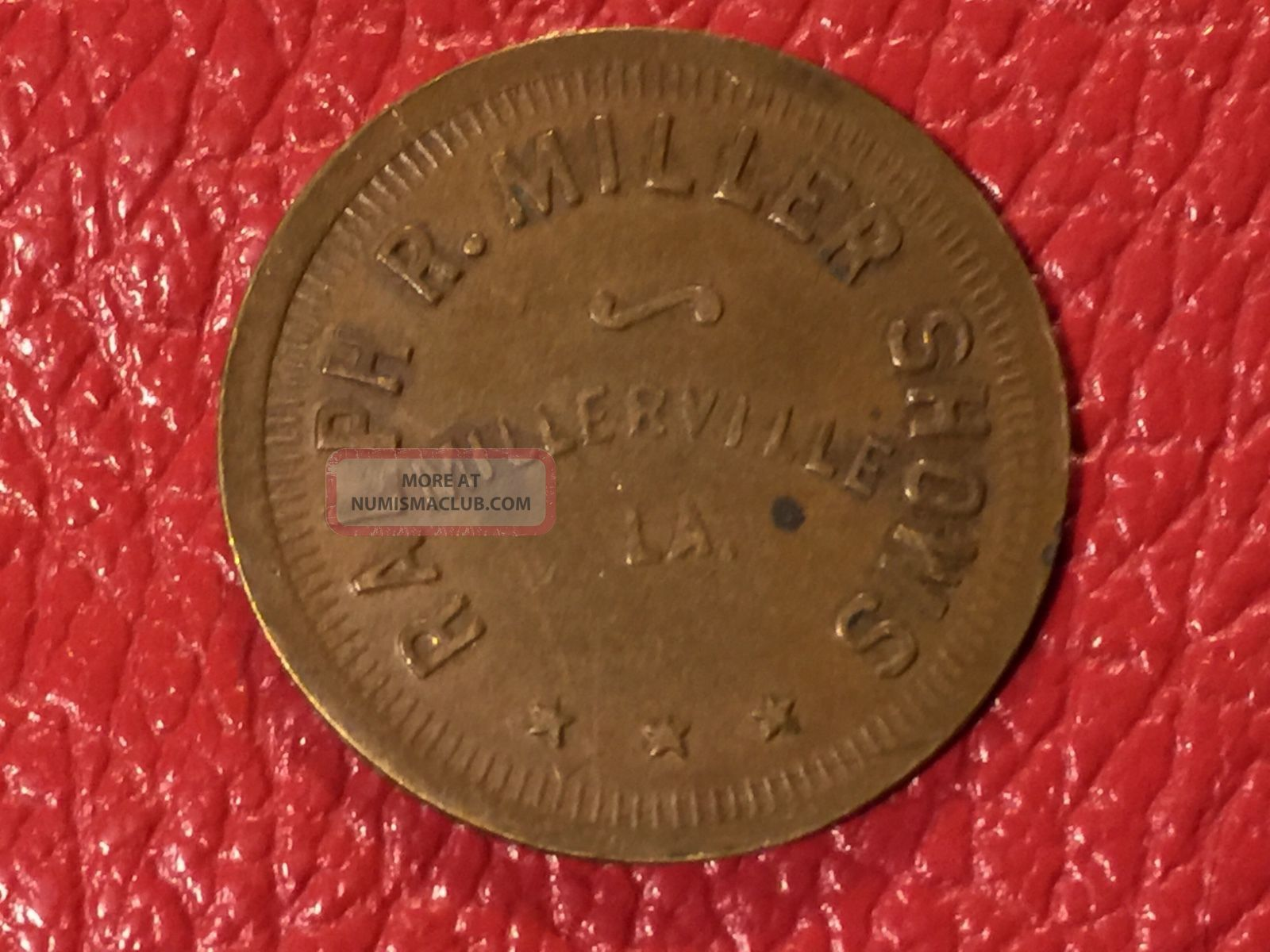 Ralph R Miller Shows Millerville La Circus Fair Coin Token Scrip Trade G/f.  25c Exonumia photo