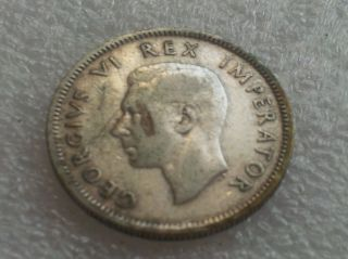 Key Ww2 Date Silver Coin 1943 South Africa Shilling Coin photo