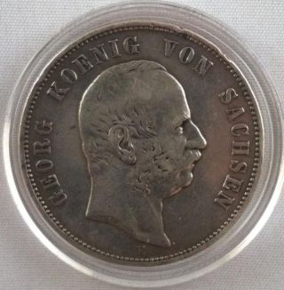 Germany City States 5 Mark 1903 Saxony.  900 Sil.  8038 Asw Coin photo