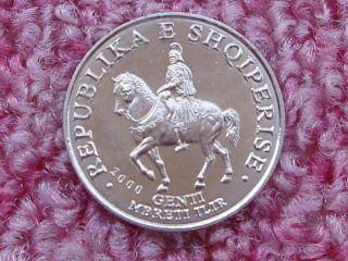 Albania 50 Leke 2000,  Ancient Illyria Warrior King Gent,  Knight,  Rider On Horse.  Unc photo