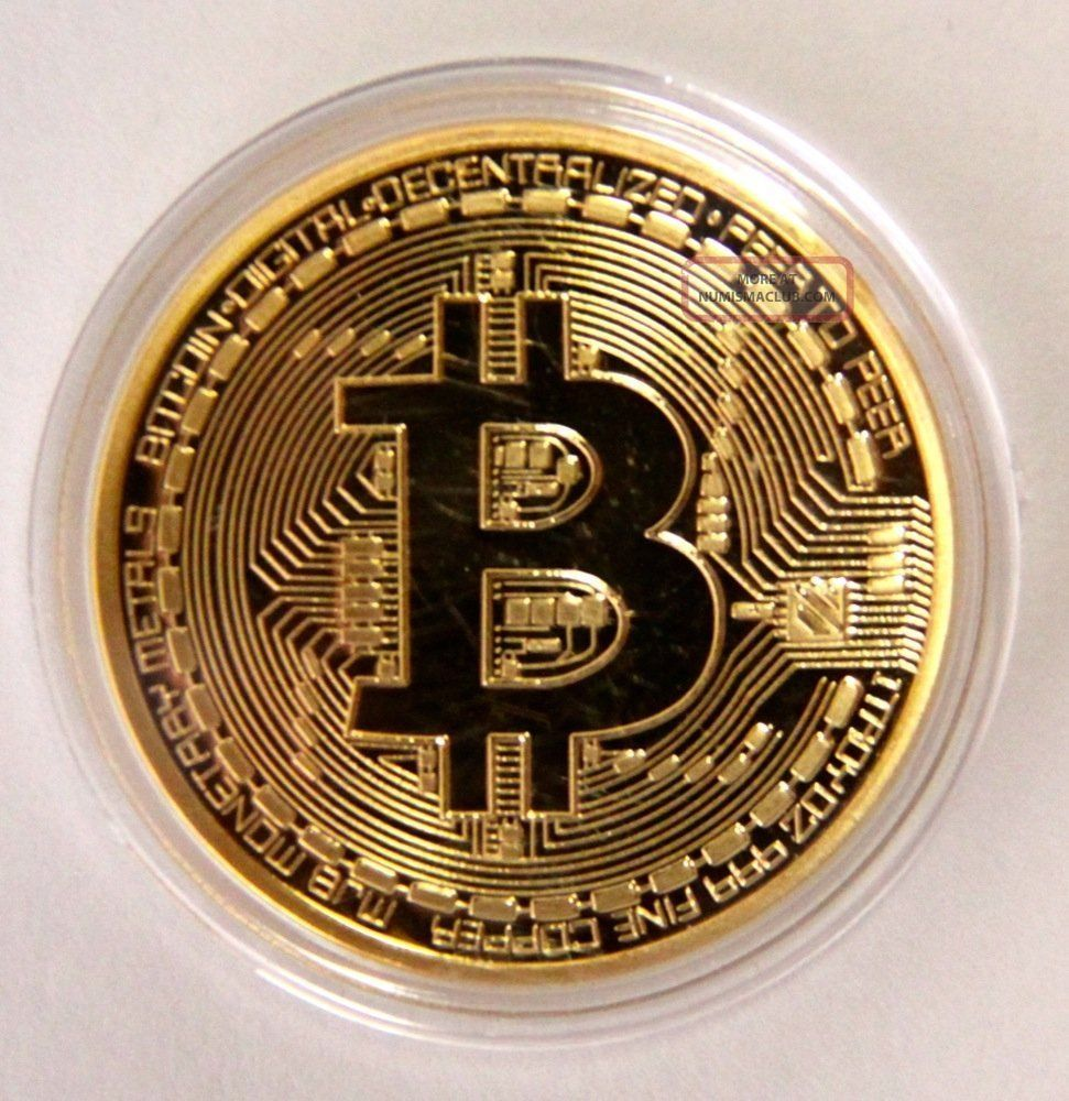 . 999 Fine Gold Bitcoin Commemorative Round Collectors Coin - Bit Coin Is Gold Pl Other Coins of the World photo