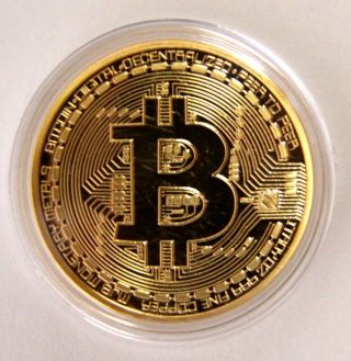 . 999 Fine Gold Bitcoin Commemorative Round Collectors Coin - Bit Coin Is Gold Pl photo