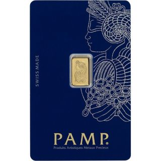 1 Gram Pamp Suisse Gold Bar.  9999 Fine Veriscan (in Assay) photo