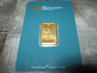 5 Gram Perth Gold Bar In Assay Case photo