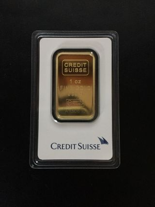 Credit Suisse Gold Bar Troy Ounce photo