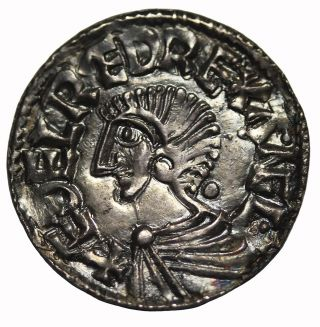 Great Britain Aethelred Ii 978 - 1016 Ad Silver Penny Medieval Coin S.  1151 photo