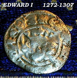 C 1300 King Edward 1st Silver Penny Medieval Days Of Old Coin Not Colonial Token photo