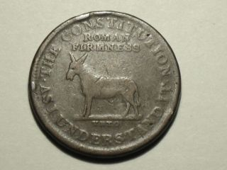 Hard Times Token,  No Date,  (1834?) L 51 Ht 70 photo