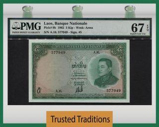 Tt Pk 9b 1962 Lao 5 Kip