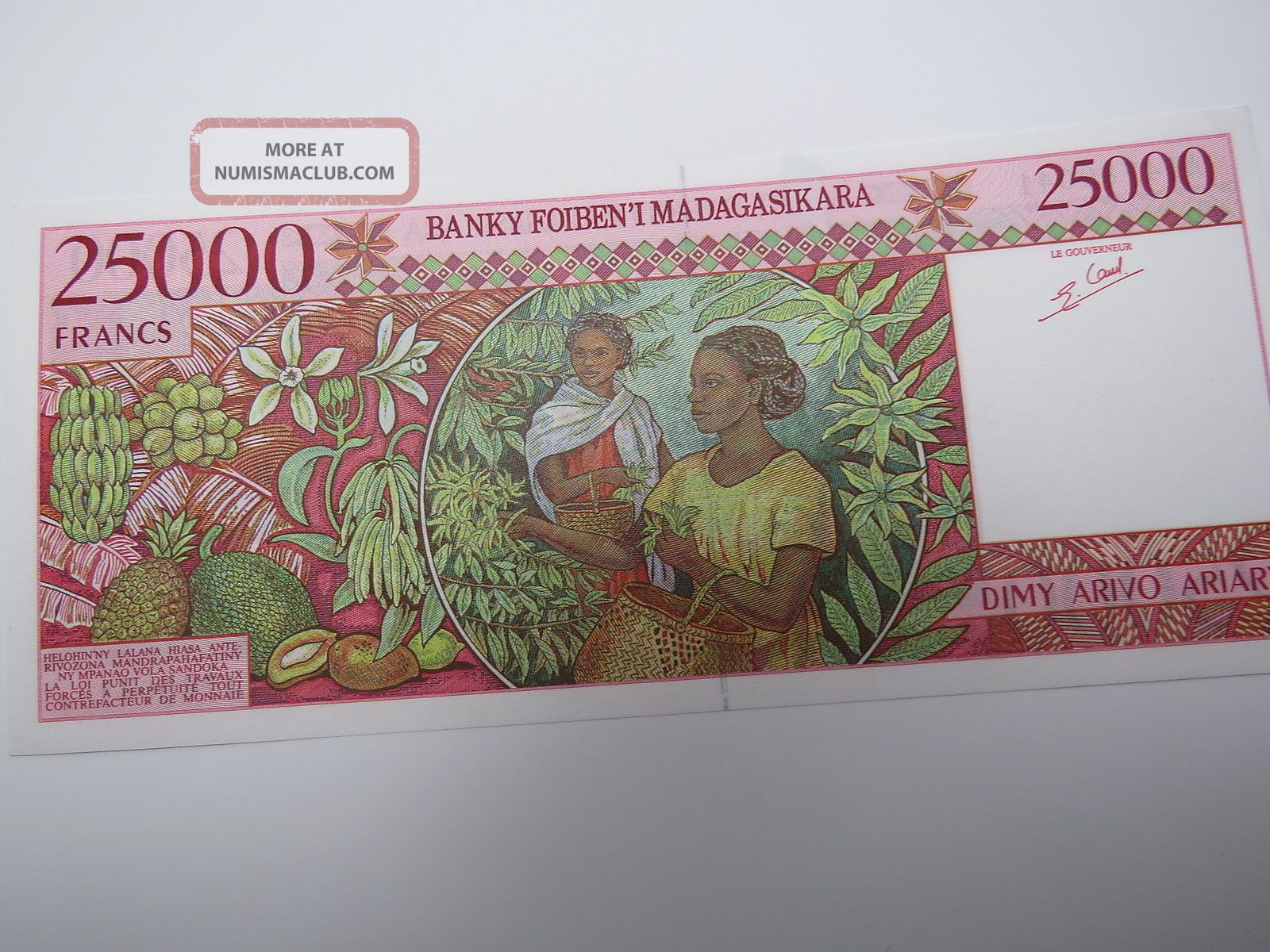 Madagascar 25000 Francs (1998) B Pick 82 Unc Banknote. Africa photo