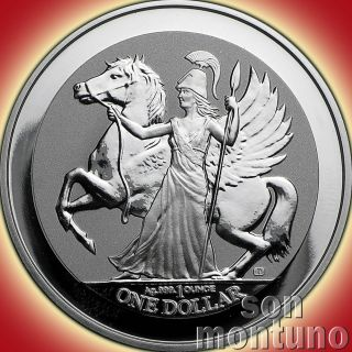 2017 Pegasus - 1 Oz.  999 Silver Reverse Proof Bullion $1 Coin In Airtite Capsule photo