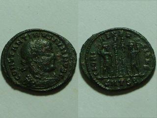 Constantine Ancient Roman Christian Coin/legion Soldiers Standards/smtsb photo