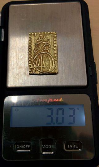 Gold Meiji 2bu - Ban - Kin Japan Old Coin (1868 - 1874) 09 photo