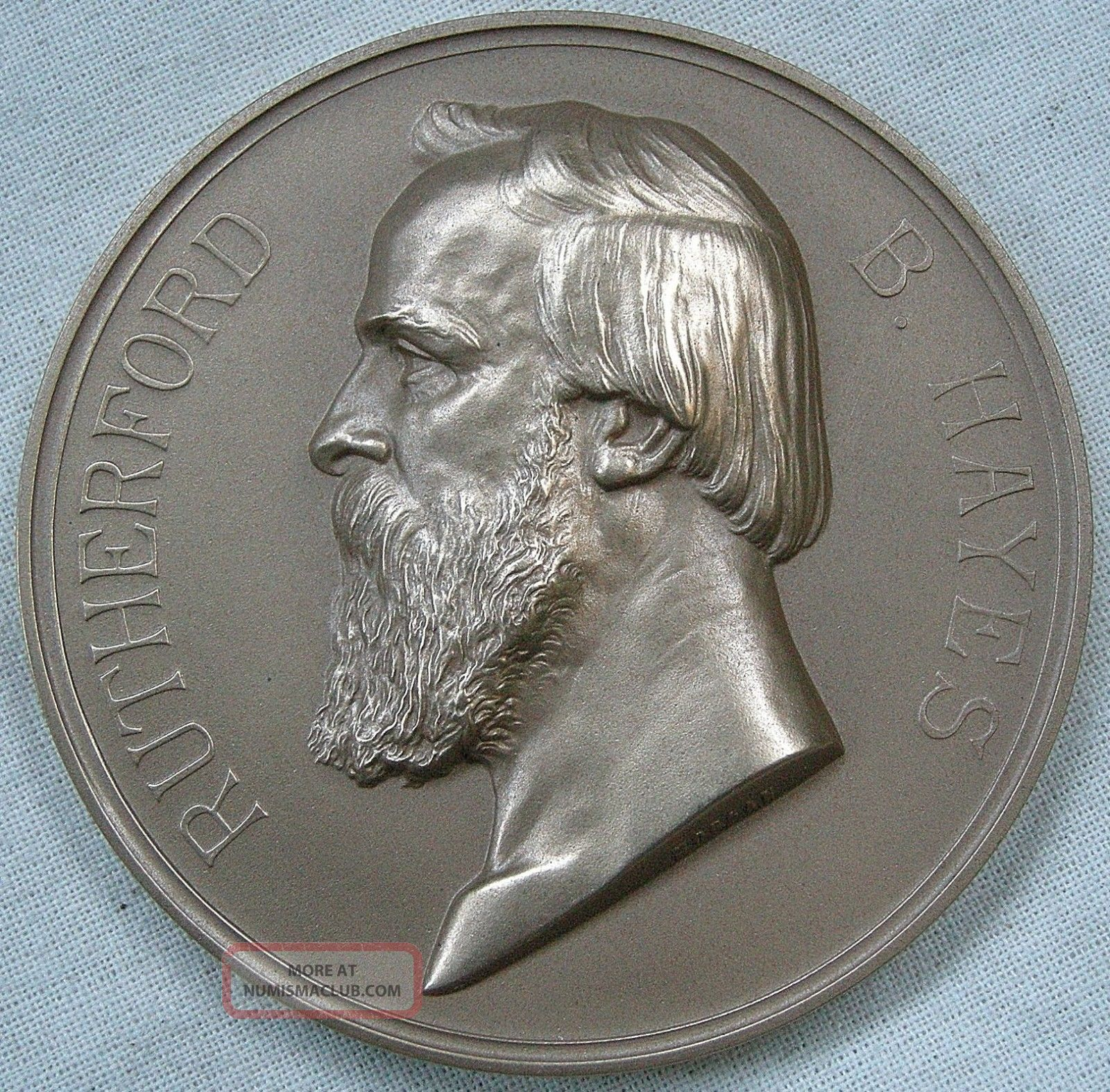 Rutherford B.  Hayes Presidential Medal,  U.  S.  Medal 119 Exonumia photo