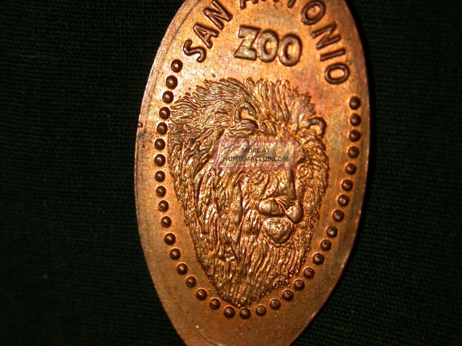 San Antonio Zoo Elongated Penny Pressed Smashed. Exonumia photo