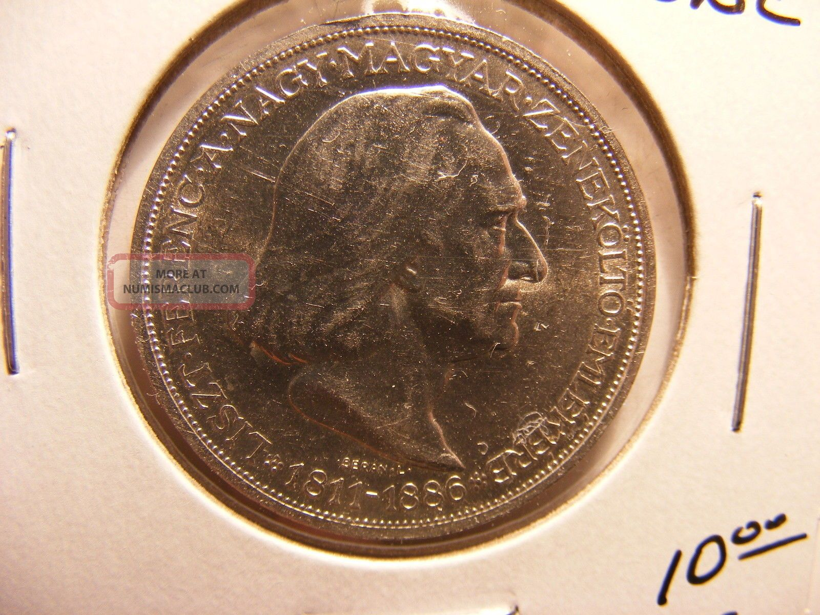 Hungary 2 Pengo,  1936,  50th Anniversary - Death Of Franz Von Liszt,  Unc Hungary photo