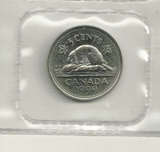 1999 P Canada Test Nickel Scarce Mintage Of Only 20,  000 photo