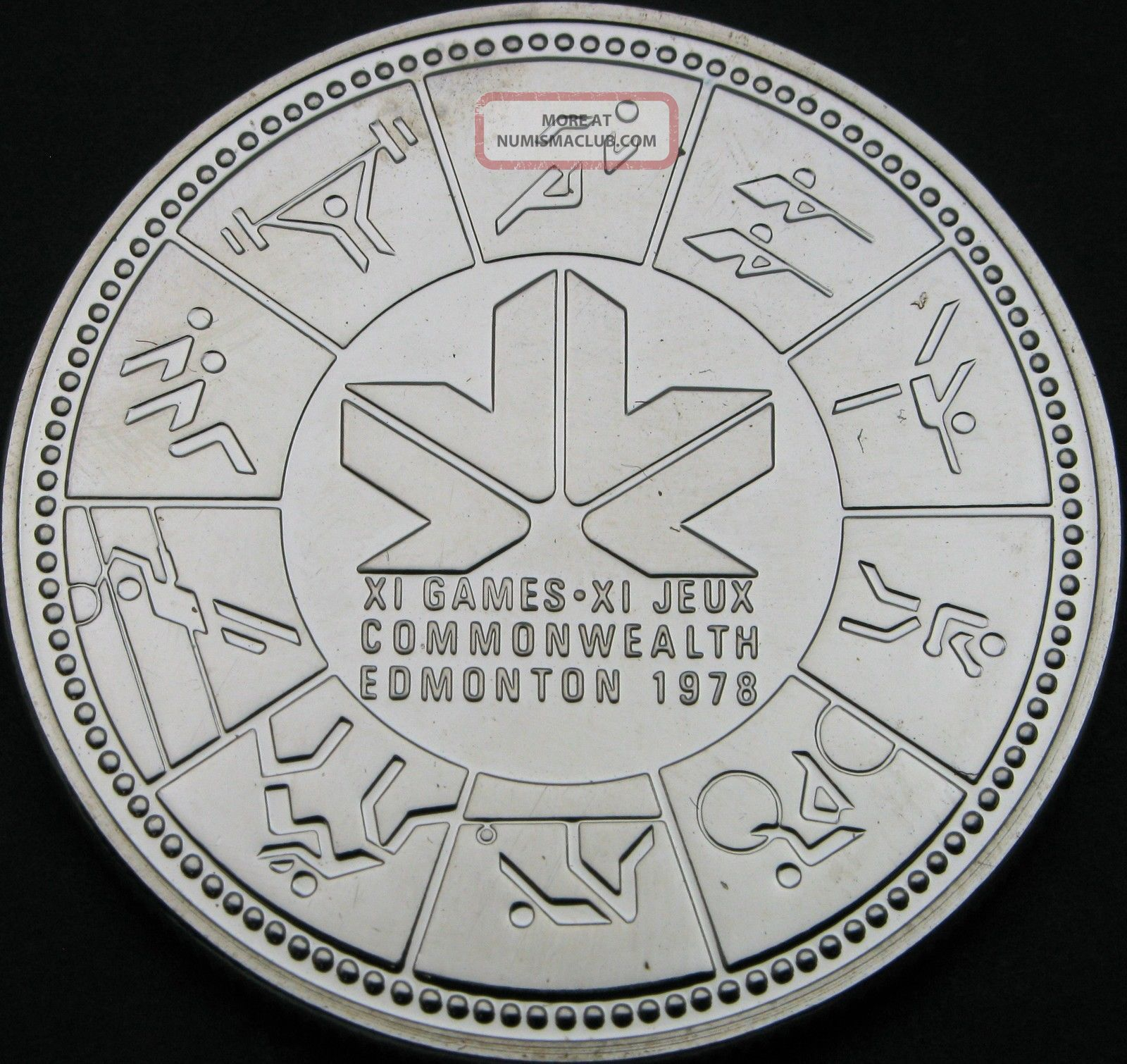 Canada 1 Dollar 1978 - Silver - Commonwealth Games - Unc - 86 猫 Coins: Canada photo