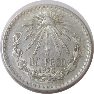 Elf Mexico 1 Peso 1923 Silver photo