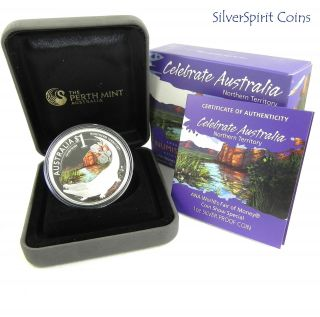 Special Strike 2010 Celebrate Australia Northern Territory Silver 1oz Proof Coin photo