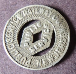 Public Service Railway,  Jersey Transportation Token Early photo