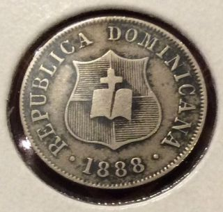 1888 H Dominican Republic 2 1/2 Centavos photo