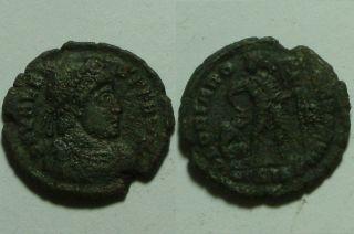Rare Ancient Roman Coin Valens 365/chi - Rho Labarum Captive Star Siscia photo
