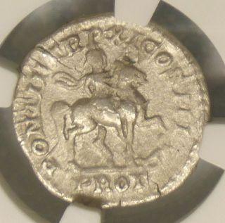 198 Ad Ngc Vf Caracalla Denarius Roman Ancient Silver Wow Coin Emperor Horse photo