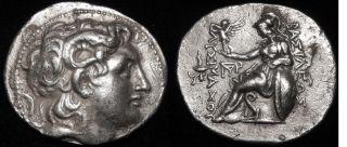 Mrtwn Lysimachos (300 Bc) Tetradrachm Magnesia Pros Maiandroi Alexander,  Athena photo