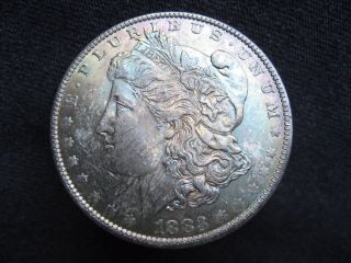 1883 O Morgan Silver Dollar - State/uncirculated - Toning photo