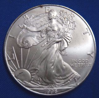 1996 $1 American Eagle Silver Dollar Us Coin Bullion 1 Oz 999 Fine Bu photo