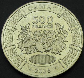Central Africa 500 Francs 2006 - Aunc - 434 猫 photo