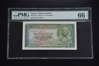 Egypt 1952 Pick 28 Pmg66 Epq
