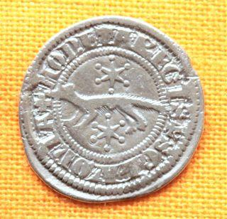 Medieval Slavonian Coin - Iv.  Bela Slavonian Silver Denar 1235 - 1270.  Unger: Sz 4 photo