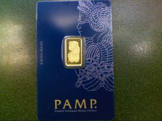 Pamp Suisse 2.  5 Gram 999.  9 Fine Gold Bullion Bar Case 363 photo