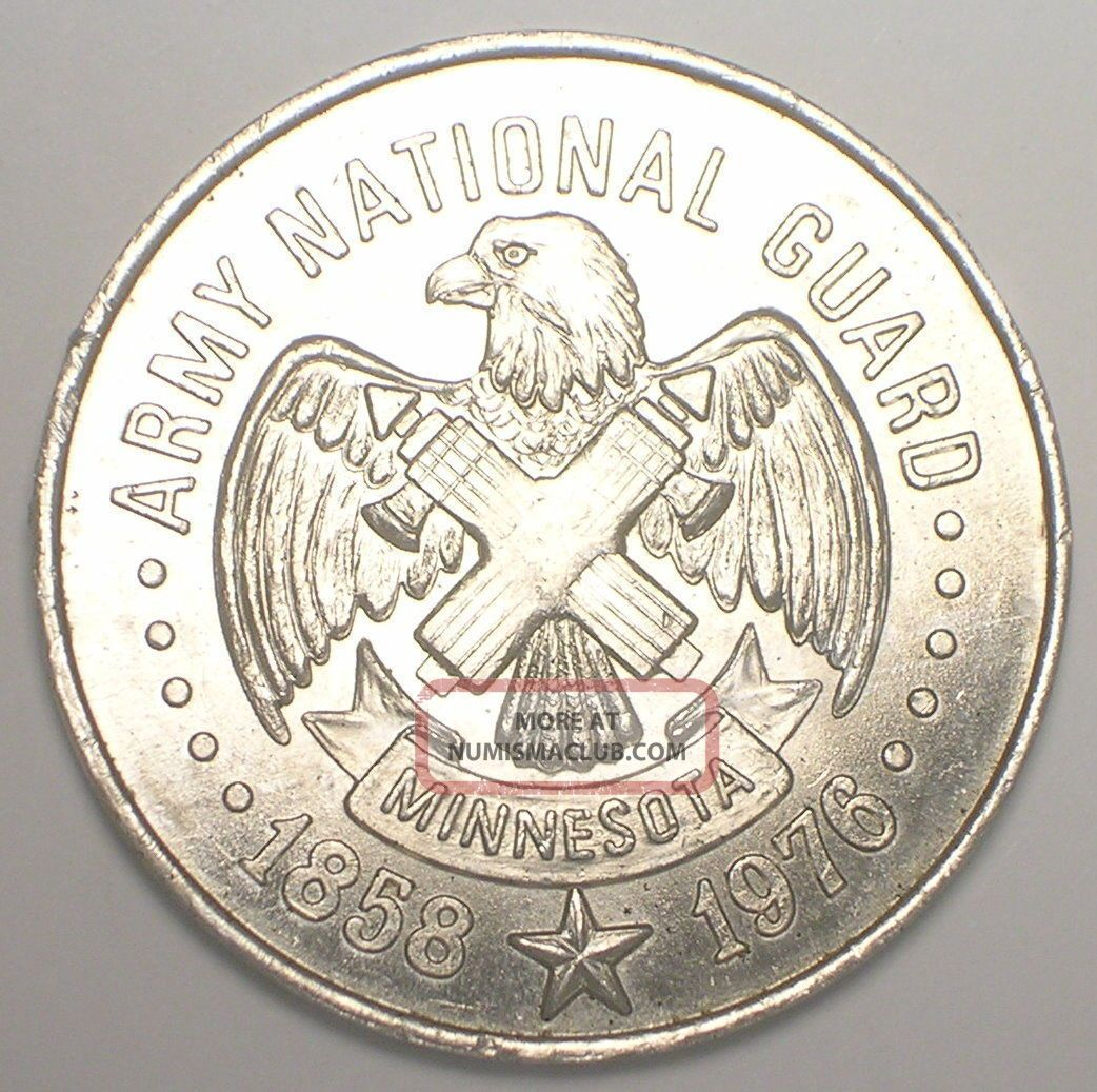 Vintage 1976 Minute Man Minnesota National Guard Bicentennial Token Vf, Exonumia photo