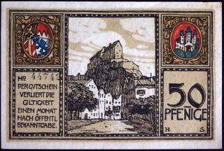 Burghausen 1918 50 Pf Circulating German Notgeld Bavaria Bayern photo
