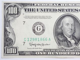 Series 1950 D $100 Dollars Chicago Federal Reserve Note Fr 2161 - G Cu photo