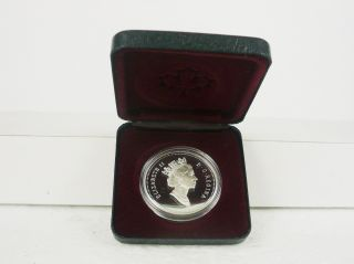 Canadian Silver Dollar 1991 - Elizabeth Ii - - Nib photo