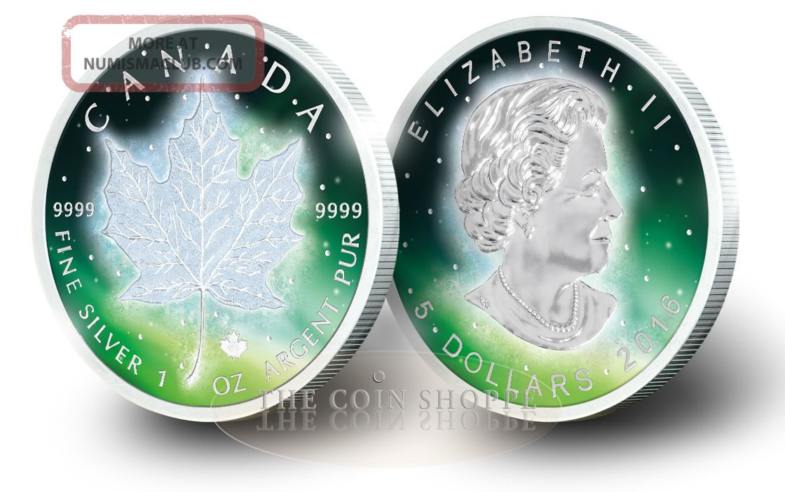 Frozen Maple Leaf 2016 1 Oz Pure Silver Coin Rhodium