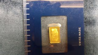 One (1) Gram Gold Bar - Pamp Suisse - Fortuna - 999.  9 Fine In Assay photo