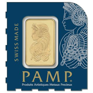 One (1) Gram Pamp Suisse Gold Bar.  9999 Fine (in Assay) photo