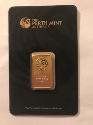 10 - Gram Perth Gold Bar.  9999 Fine (in Assay) photo