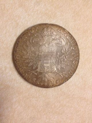 Austrian Maria Theresa Thaler Burg Co Tyr 1780 X Archid $25 - $30 In Silver Alone photo