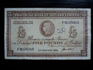 Ireland 5 Pounds 1968,  F photo