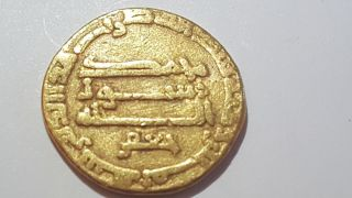 Abbasid Gold Coin Al - Rashid 180 Ah Citing Jaafar photo